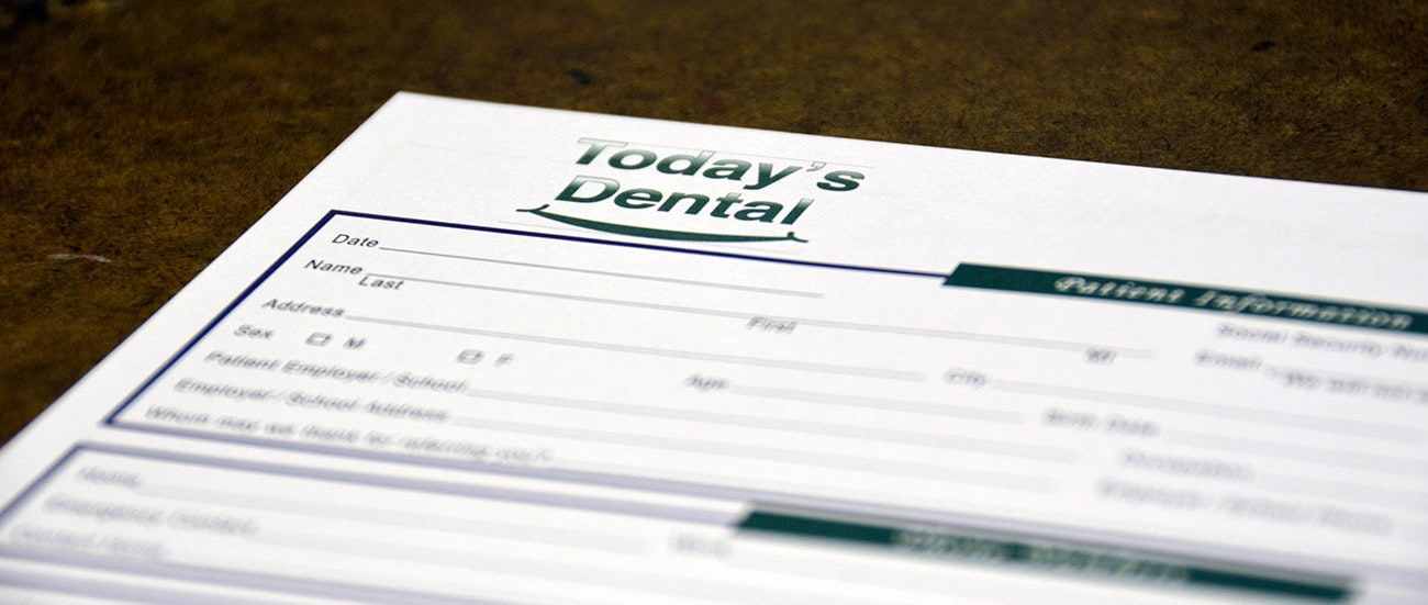 Today's Dental forms